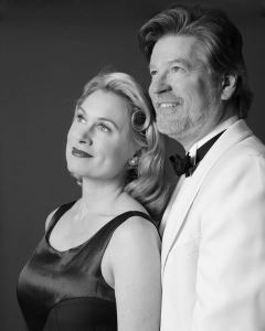 photo provided by Landmark Community Theatre. Cristin Tillinghast and Tom Sheehan