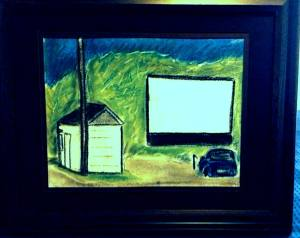 drive in pastel