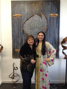 Amber Maida and her mother at Stepping Stones Art Studio