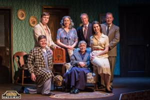 The cast of Lost in Yonkers (photo by Mandi Martini for the Warner Theater)